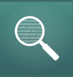 magnifying glass scanning and identifying a vector image
