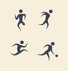 man silhouette playing sport vector image