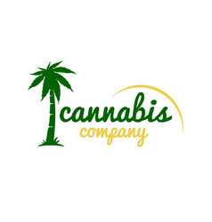 medicine marijuana palm logo vector image