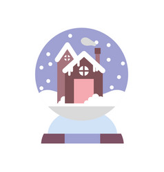 merry christmas celebration gingerbread house in vector image