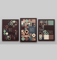 Minimal covers procedural design vector