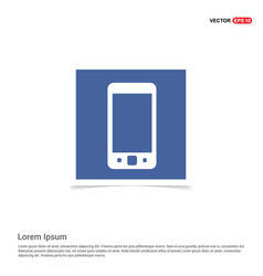 mobile phone icon - blue photo frame vector image