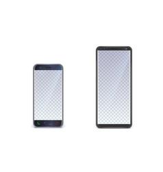 mock ups smartphones with blank ui screen vector image