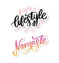 Namaste lettering indian greeting hello in hindi vector