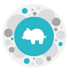 Of folks symbol on piggy icon vector