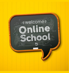 Online school back to school e-learning template vector