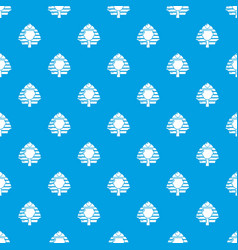 pharaoh pattern seamless blue vector image