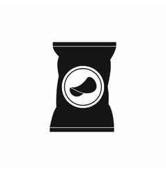 Potato chips bag icon simple style vector image