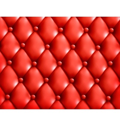 Red button-tufted leather background vector