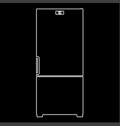 Refrigerator the white path icon vector