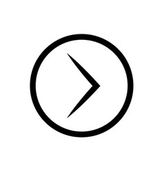 right arrow inside circle icon vector image