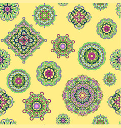 Seamless pattern from mandalas vector