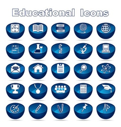 Set of Educational Icons vector image