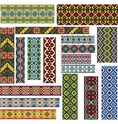 Set of Seamless Patterns for Embroidery Stitch vector