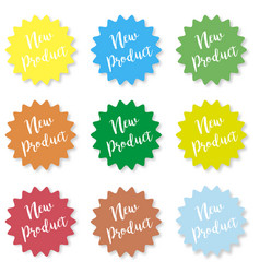 set of stickers with the inscription new product vector image