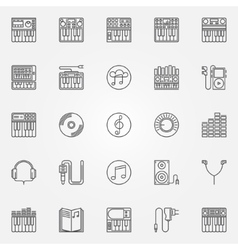 Synthesizer linear icons vector image
