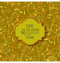 Tansy twigs pattern Golden pistachio autumn vector image