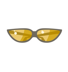 The sunglasses with yellow lens vector
