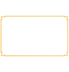 Vintage gold simple frame beautiful golden style vector