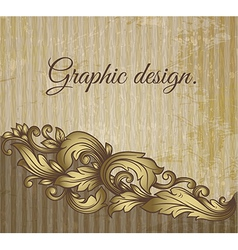Vintage scroll pattern at grunge background vector