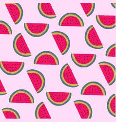 Watermelon pattern background free vector
