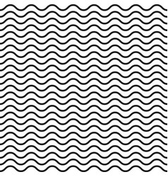 wavy line seamless pattern black-white vector image