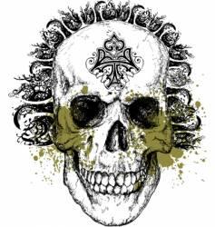 wicked skull illustration vector image