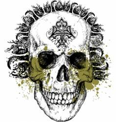 wicked skull vector image