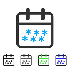 Winter day flat icon vector