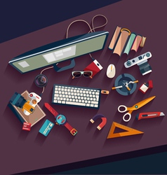 Workplace concept vector