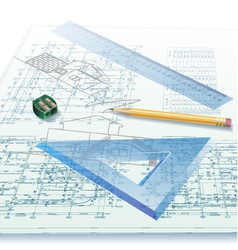 Architectural background vector image