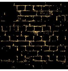 Brick wall gold texture pattern black vector