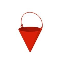 Fire bucket cartoon icon vector image vector image