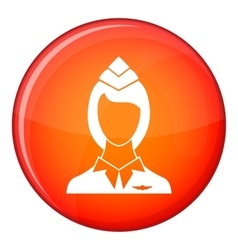 Stewardess icon flat style vector image