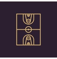 The basketball icon Basketball symbol Flat vector image