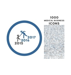 Years Guys Help Rounded Icon with 1000 Bonus Icons vector image vector image
