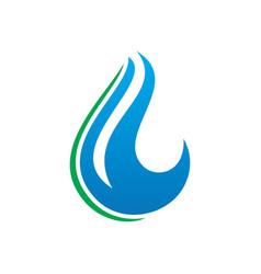 abstract waterdrop nature logo vector image vector image