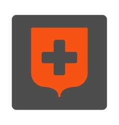 Medical Shield Flat Button vector image