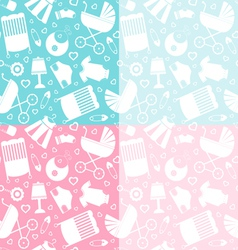 Seamless baby pattern vector image vector image