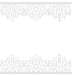seamless pattern of vintage floral background vector image vector image
