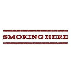 Smoking here watermark stamp vector