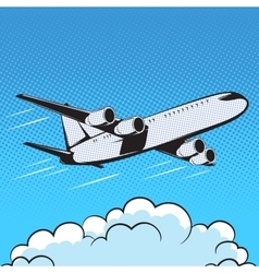aircraft retro style pop art air vector image vector image