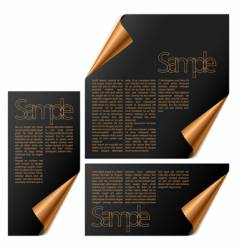 modules with turned corners vector image vector image
