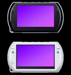 portable video game console vector image vector image