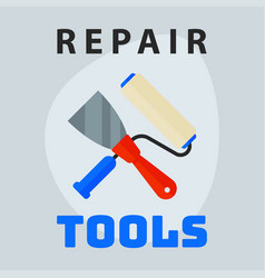 repair tools spatula roller icon creative graphic vector image vector image