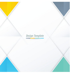 template triangle design yellow blue green vector image vector image