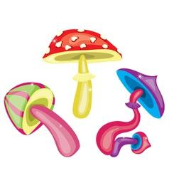 Toxic mushrooms vector image