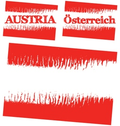 abstract flag of Austria vector image