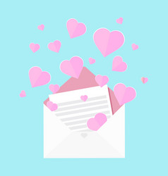 colorful of letter of love vector image