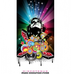 dance music party vector image vector image